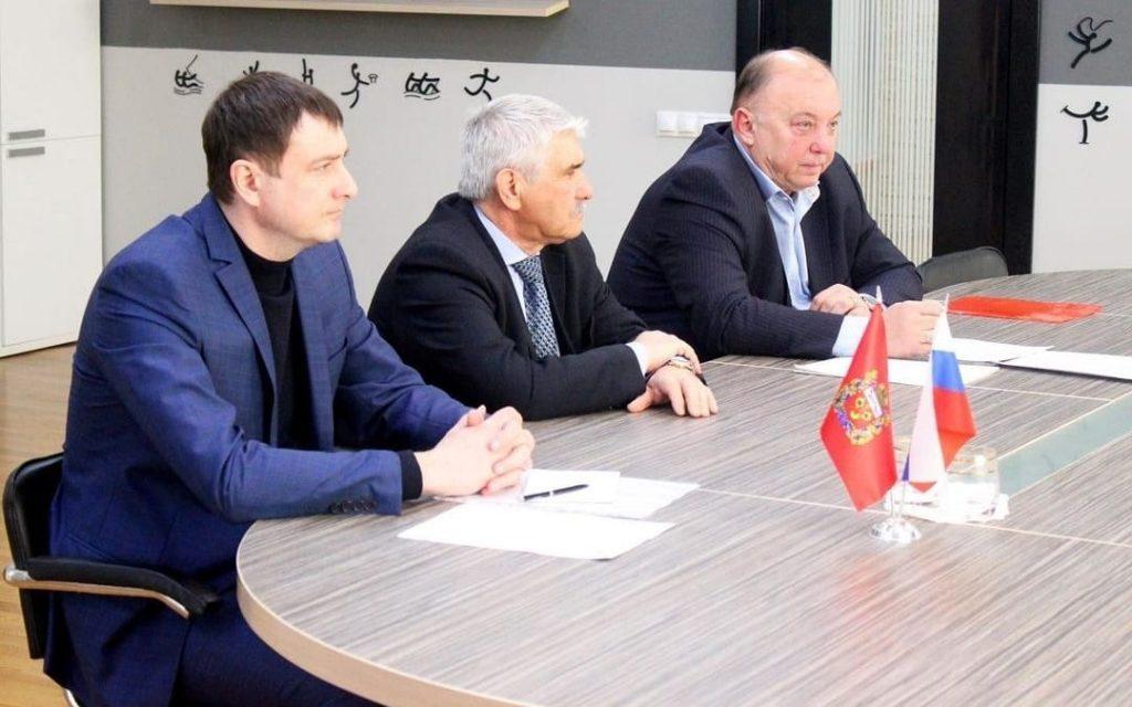 Встреча с министром физической  культуры и спорта Оренбургской области С.А. Салминым