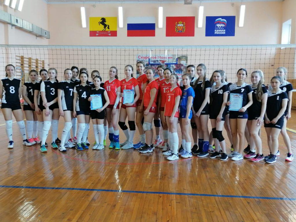 Турнир по волейболу среди девушек в ФОК Дельфин п. Новосергиевка
